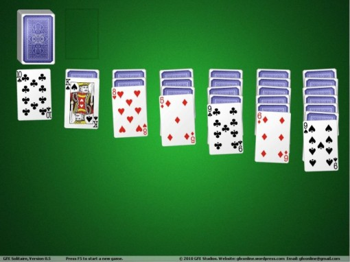 A screenshot of GFX Solitaire